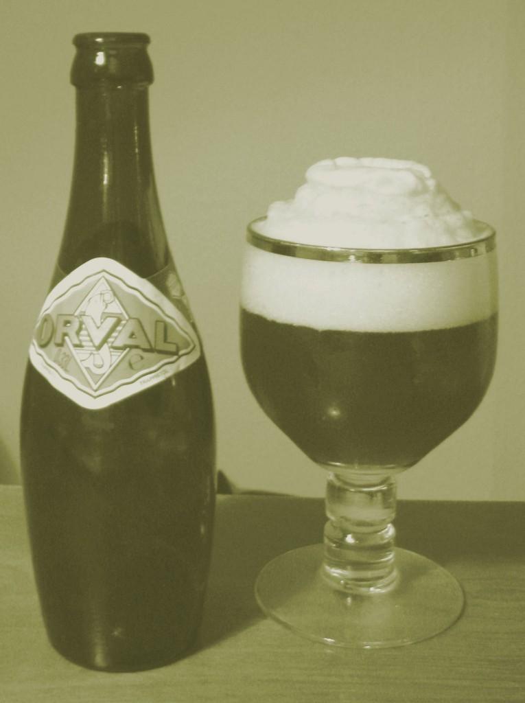 Orval øl og glas
