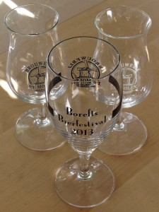 Borefts Beer Festival 2013 collection of De Molen glasses