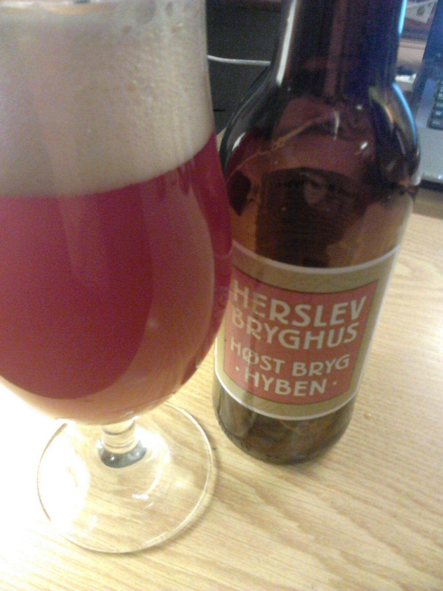 Herslev Høstbryg Hyben 2013, en god dansk øl til efteråret