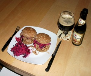 Pulled pork, rød coleslaw og doppelbock