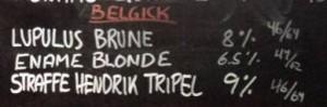 Tavlen med belgisk øl på Christian Firtal