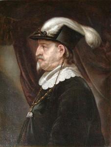 Christian IV på sine ældre dage, manden der har lagt navn til Frederiksodde C4. Kilde: Wikipedia