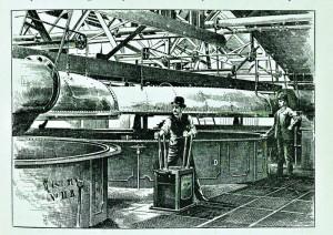 Mæskeprocessen på Guinness bryggeriet. Fra bogen