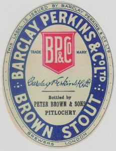 Barclay Perkins Brown Stout label from The Home Brewer's Guide to Vintage Beer