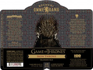 Ommegang Brewery Game of Thrones Iron Throne