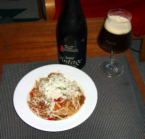 Spaghetti Bolognese med Rodenbach Vintage 2007