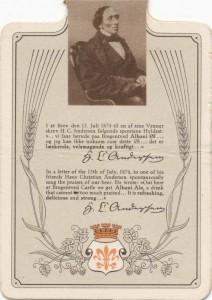 Albani har flittigt benyttet sig af H. C. Andersens ros til reklame-øjemed.