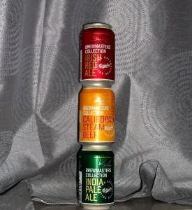 Carlsberg Brewmasters Collection, rød, gul og grøn dåseøl.