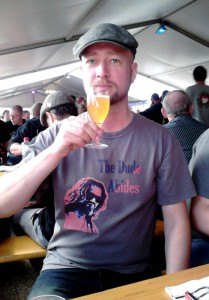 Christian Scheffel enjoying a Tilquin Gueuze at Borefts Beer Festival 2014