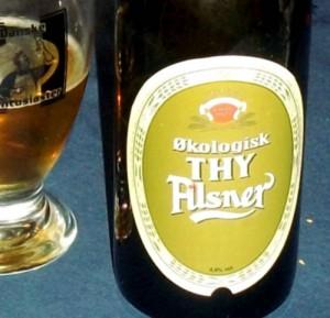 Thisted Økologisk Thy Pilsner er en smuk klassisk etiket
