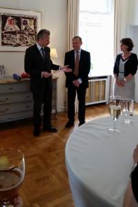 Carsten Berthelsen på den belgiske ambassade. Foto: Anne-Mette Meyer Pedersen