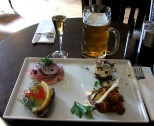 Fire slags smørrebrød på Restaurant Kong Volmer under Spis! Odense Food Festival