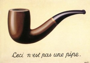 This is not a famous painting by Magritte (source: Wikipedia)