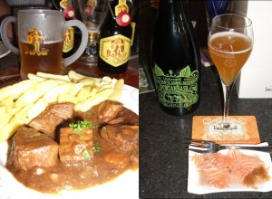 We were treated to great beer cuisine. From Belgian classics to more fancy stuff