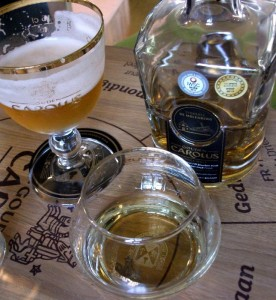 Tasting Gouden Carolus Tripel, and the whisky that's made from the same base