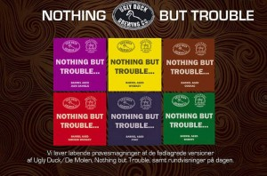 Tastings of barrel aged Nothing But Trouble will be held at the Christmas Beer Event on Saturday