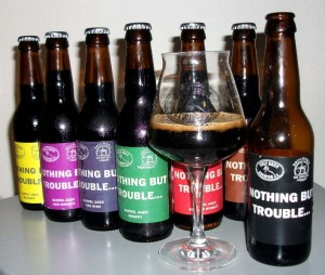The3 original and six different barrel aged versions of Ugly Duck/De Molen Nothing But Trouble
