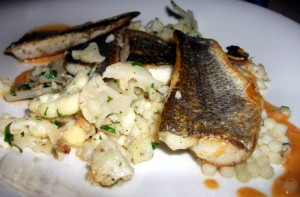 Seabass and cauliflower at t'Hommelhof