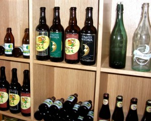 The exhibition includes bottles labelled Brouwerij Henri Maes from the old days