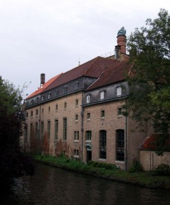 The old De Halve Maan Brewery in the middle of Bruges