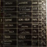 Beer menu blackboard at Christian Firtal