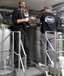 Nøgne Ø brewer Rune, and Amager Bryghus brewer Andreas
