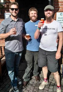 With Mark and Chris from Lagunitas