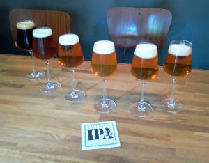 Six great beers from Lagunitas lined up for tasting