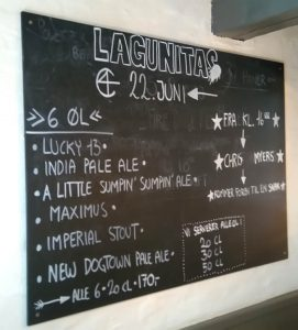 Lagunitas on the blackboard at Christian Firtal