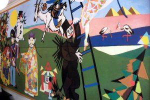 Hans Christian Andersen fairytale mural at Café Fyrtøjet