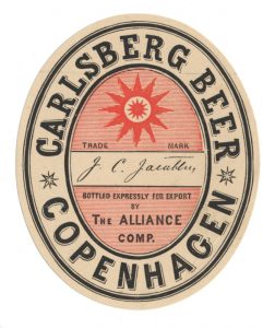 The original Export Lager around 1874 was brewed at Carlsberg, but bottled at independent export bottlers Alliance