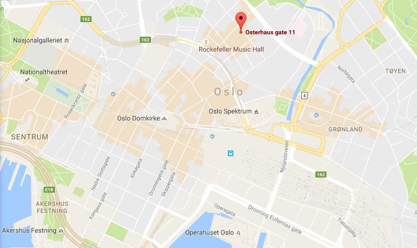 Adressen, tæt på Oslo centrum