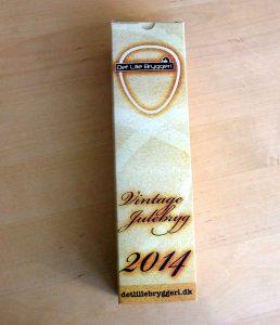 Det Lille Bryggeri Vintage Julebryg 2014 i elegant indpakning