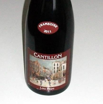 Jeg har valgt Cantillon Lou Pepe Framboise, en eksklusiv hindbærlambic som nytårsøl