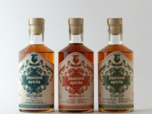 De første tre varianter af øllagret rom fra Phantom Spirits