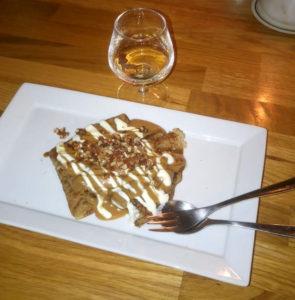 Pandekager, pecan-nødder og dulce de leche på Restaurant Gringas