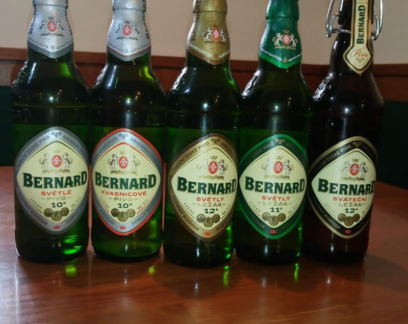 Et udvalg af de gode Bernard-øl