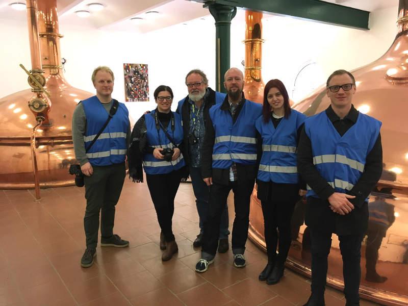 Tjekkiet-ekspeditionen på bryggerirundvisning