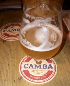 God øl på Taphouse Munich, hvor alt øl serveres i Spieglau's fine serie af ølglas