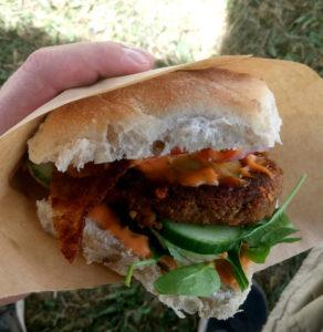 Vegetarisk linseburger fra Cafe Venchi