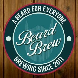 A beard for everyone. Beard Brew's slogan og logo