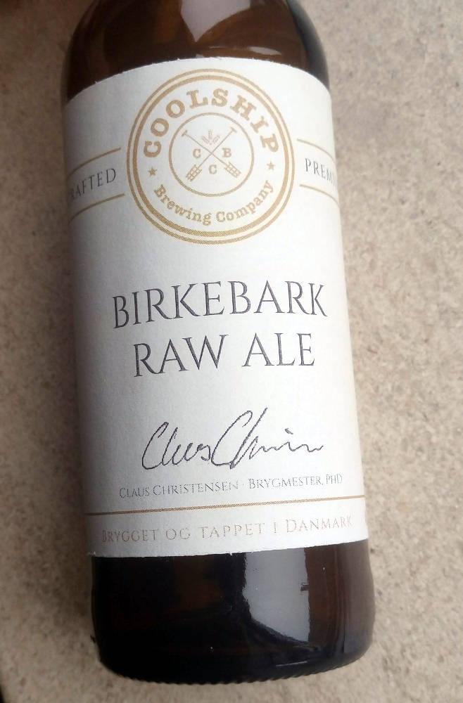Etiketten på Coolship Birkebark Raw Ale