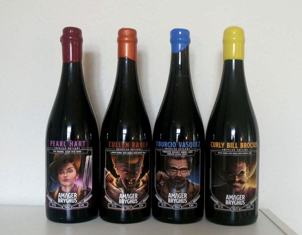 Amager Bryghus American Outlaws fadlagerede øl på champagneflaske