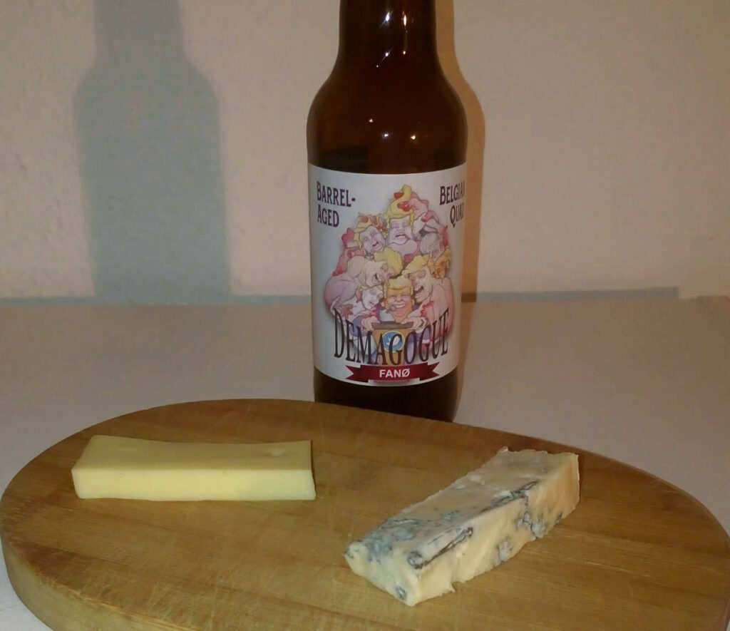 Fanø Demagogue med Thise Grubelagret ost og Gorgonzola
