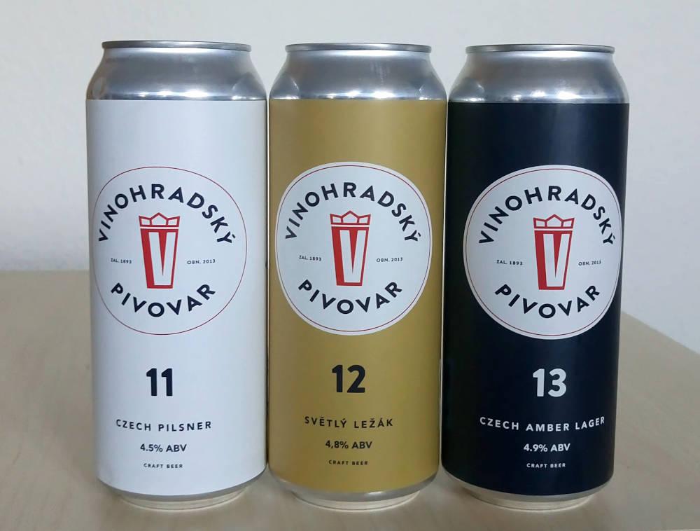 Øl på dåse fra Vinohradsky