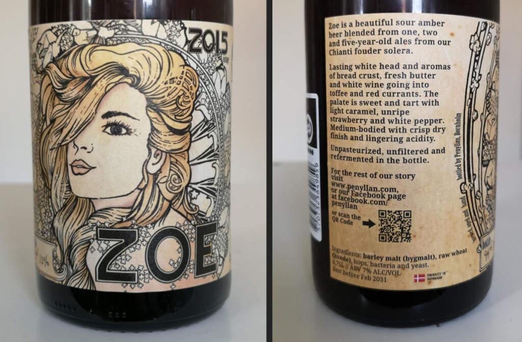Læs etiketten til Penyllan Zoe